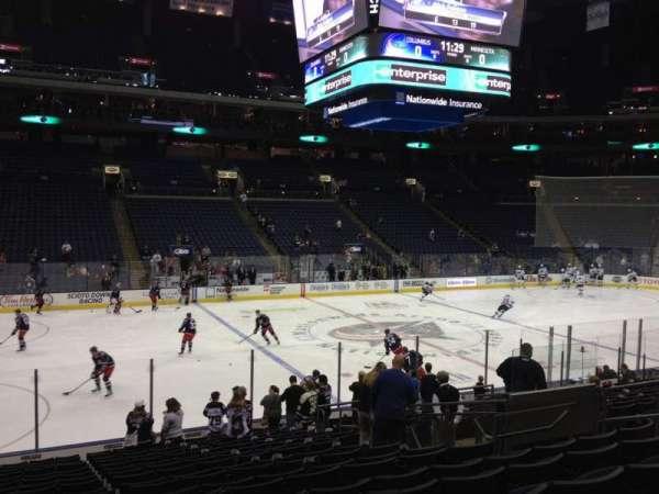 Nationwide Arena, secção: 116, fila: T, lugar: 11