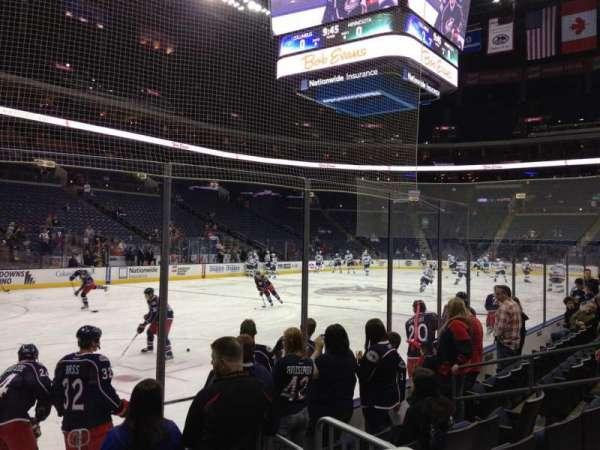 Nationwide Arena, secção: 117, fila: F, lugar: 11