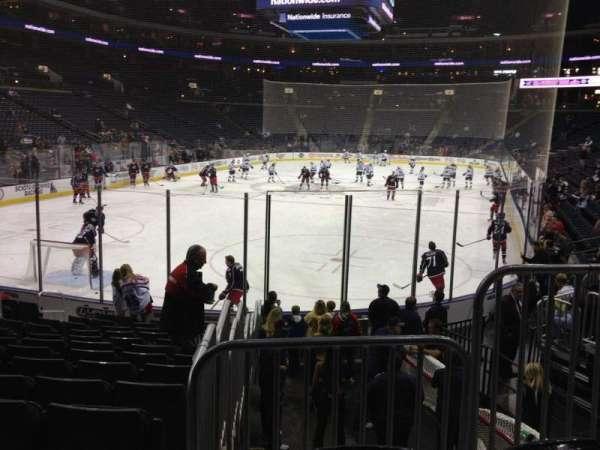 Nationwide Arena, secção: 119, fila: N, lugar: 3