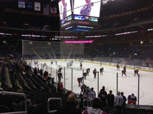 Nationwide Arena, secção: 122, fila: P, lugar: 12