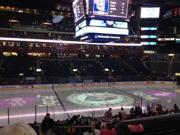 Nationwide Arena, secção: 105, fila: W, lugar: 5