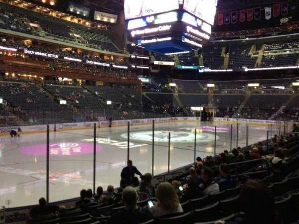 Nationwide Arena, secção: 106, fila: L, lugar: 16