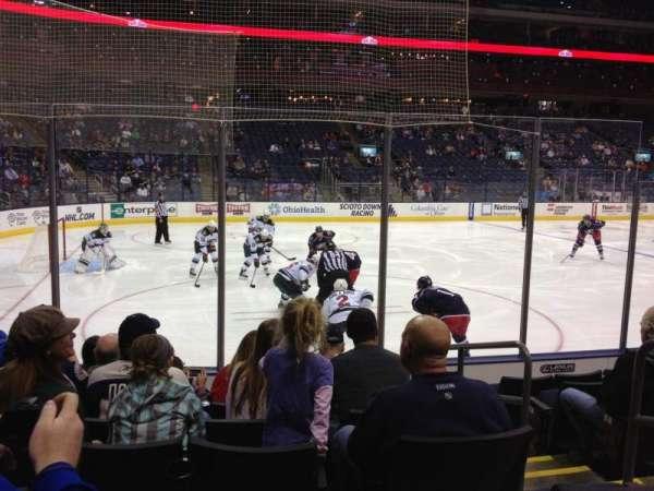 Nationwide Arena, secção: 106, fila: G, lugar: 4