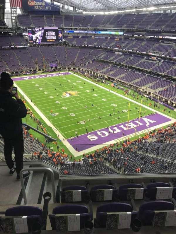 U.S. Bank Stadium, secção: 302, fila: 4, lugar: 10