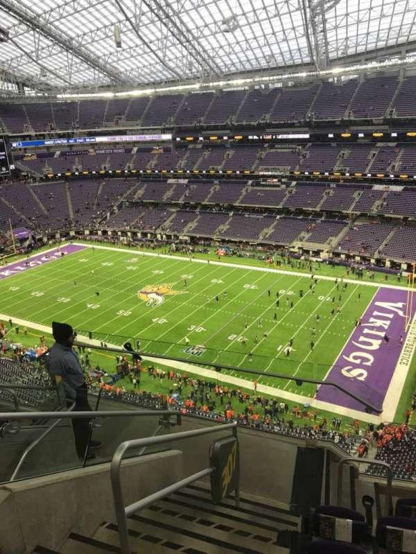 U.S. Bank Stadium, secção: 307, fila: 6, lugar: 17