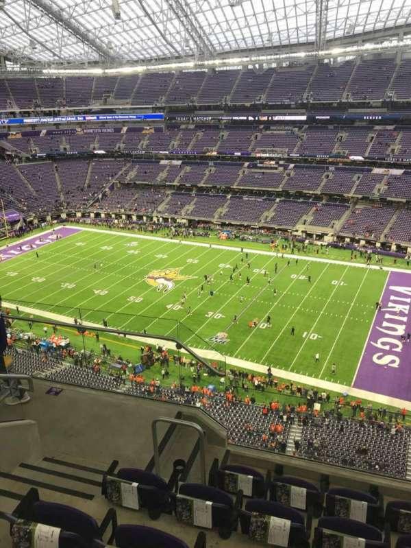 U.S. Bank Stadium, secção: 308, fila: 5, lugar: 18