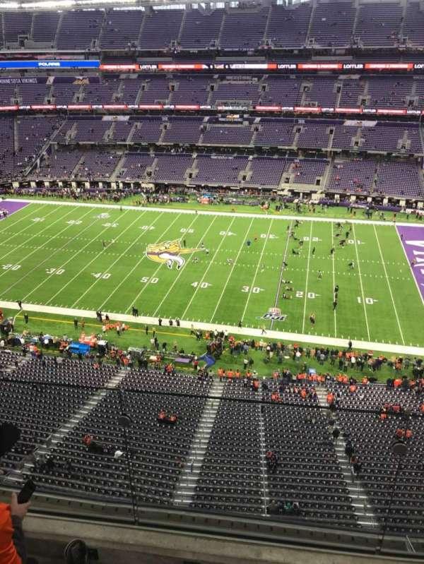 U.S. Bank Stadium , secção: 310, fila: 2, lugar: 14