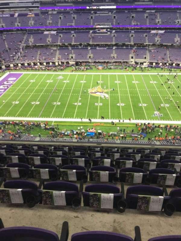 U.S. Bank Stadium, secção: 312, fila: 7, lugar: 10