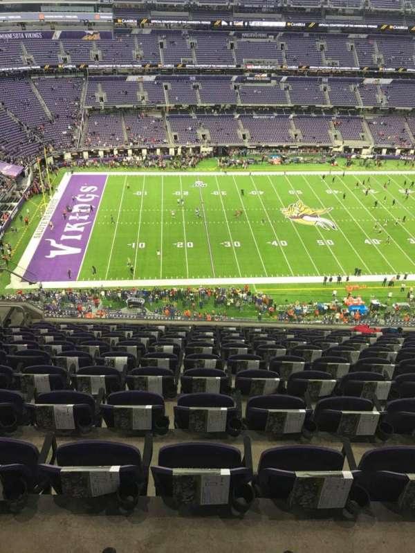 U.S. Bank Stadium, secção: 314, fila: 10, lugar: 17
