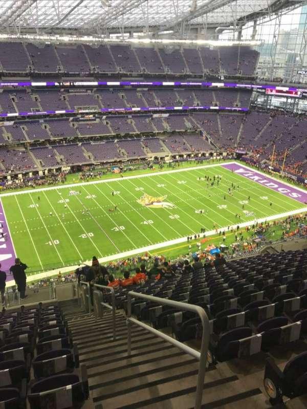 U.S. Bank Stadium, secção: 316, fila: 15, lugar: 1
