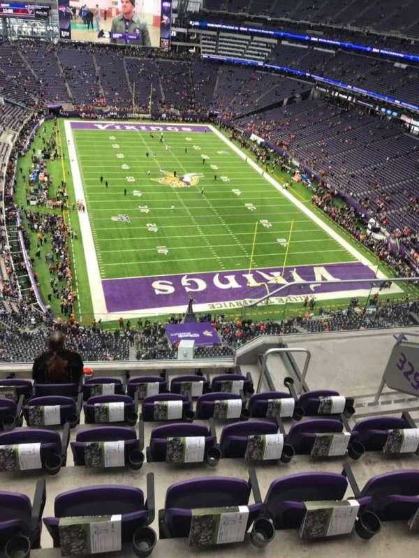U.S. Bank Stadium, secção: 329, fila: 6, lugar: 5