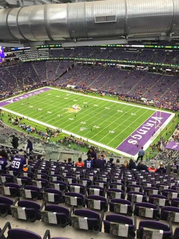 U.S. Bank Stadium, secção: 335, fila: 20, lugar: 6