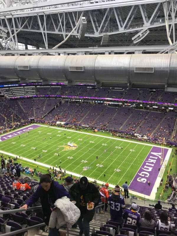 U.S. Bank Stadium, secção: 336, fila: 21, lugar: 12