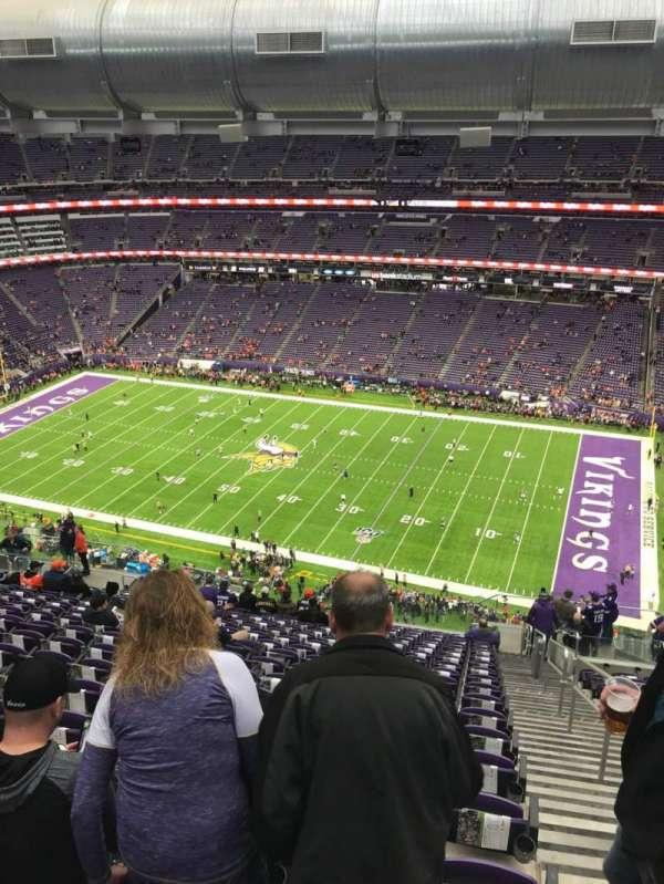 U.S. Bank Stadium, secção: 338, fila: 19, lugar: 1