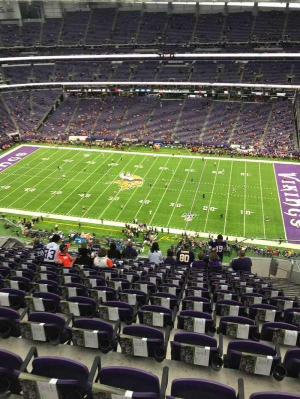 U.S. Bank Stadium, secção: 339, fila: 13, lugar: 4