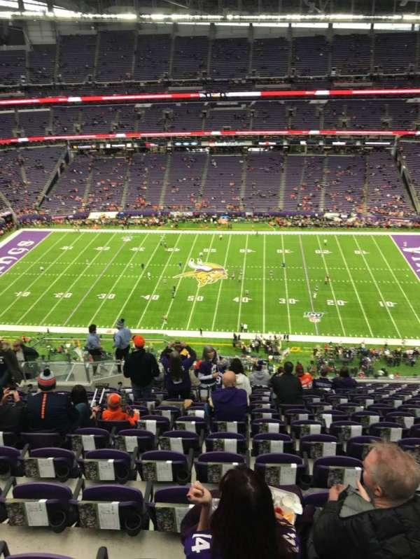 U.S. Bank Stadium, secção: 340, fila: 14, lugar: 16