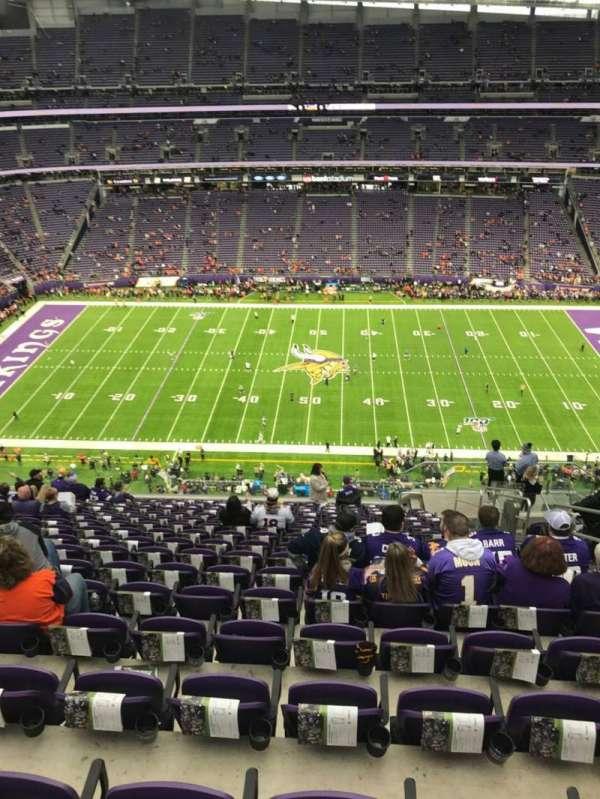 U.S. Bank Stadium, secção: 341, fila: 17, lugar: 5