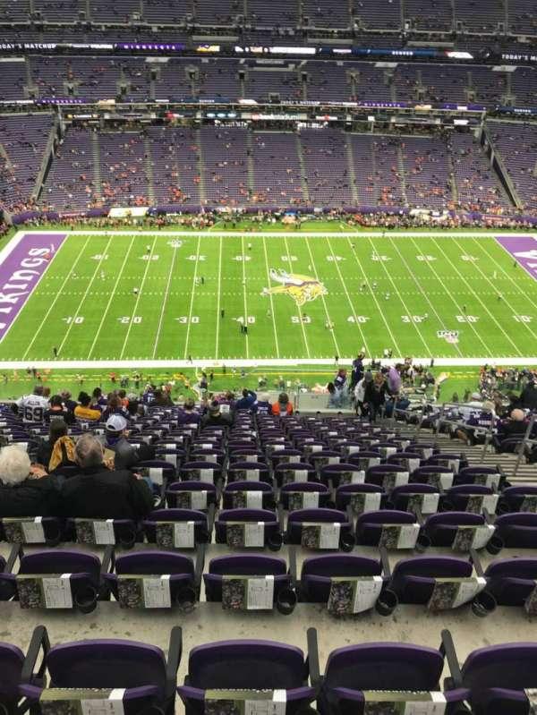 U.S. Bank Stadium, secção: 342, fila: 18, lugar: 6