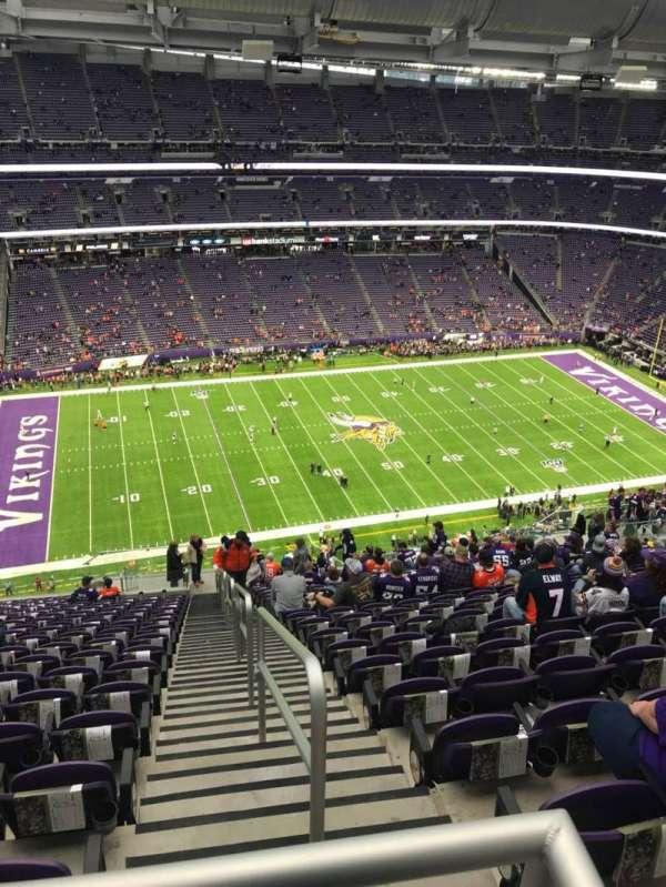 U.S. Bank Stadium, secção: 344, fila: 21, lugar: 1