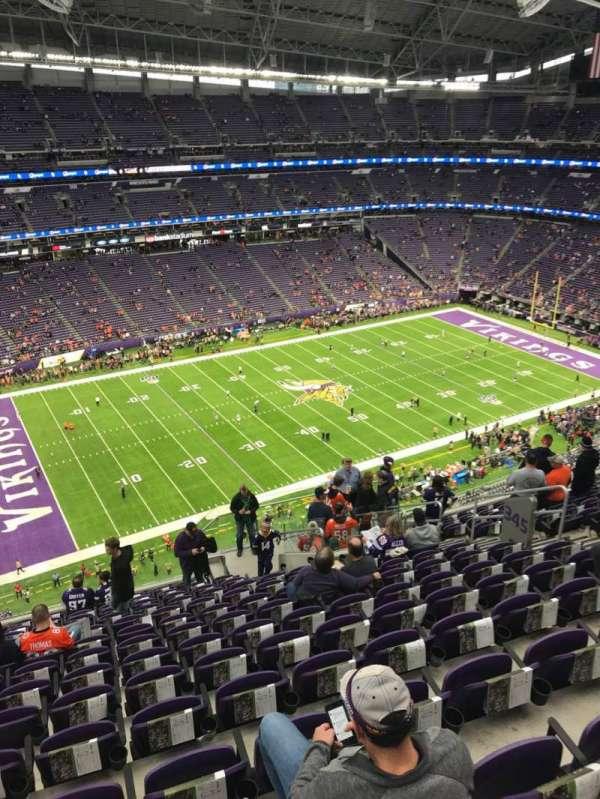 U.S. Bank Stadium, secção: 345, fila: 14, lugar: 11