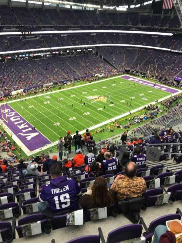 U.S. Bank Stadium, secção: 347, fila: 15, lugar: 8
