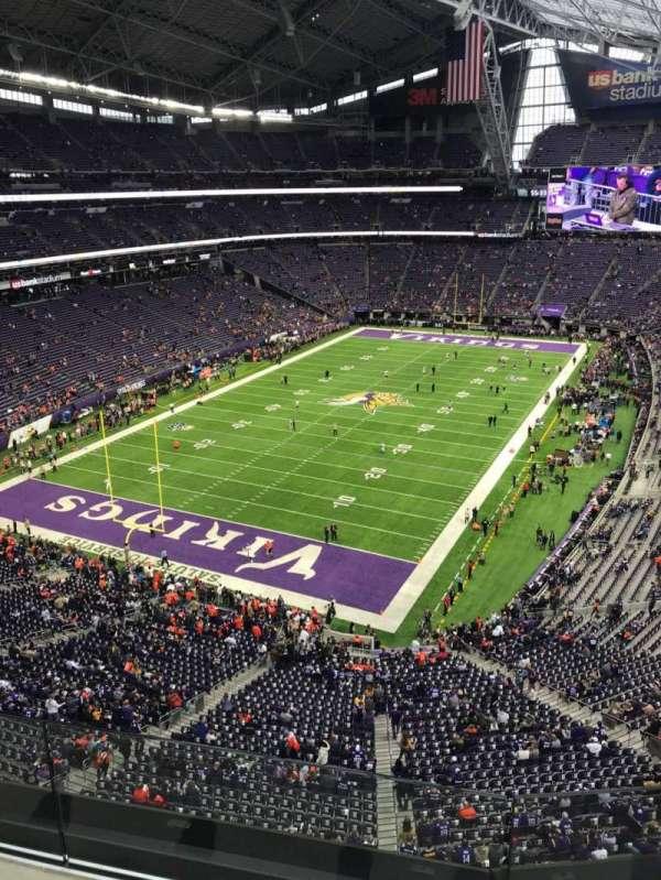 U.S. Bank Stadium, secção: 351, fila: B, lugar: 6