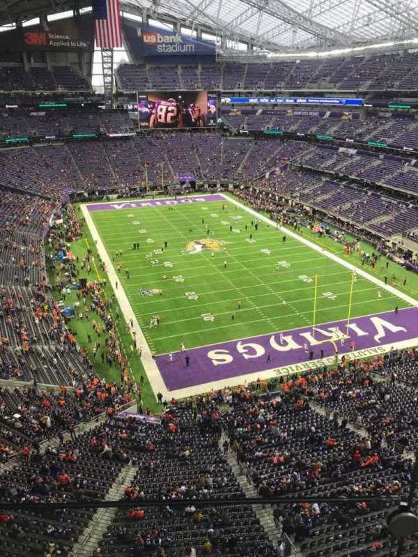 U.S. Bank Stadium, secção: 301, fila: 1, lugar: 1