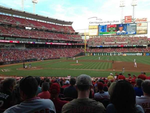 Great American Ball Park, secção: 130, fila: FF, lugar: 11