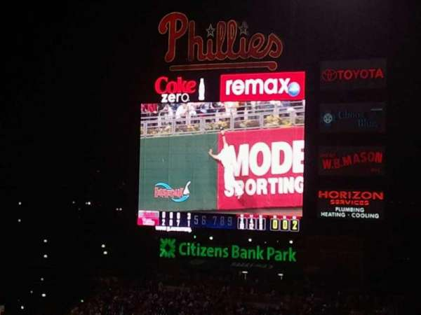Citizens Bank Park, secção: 307, fila: 20, lugar: 4