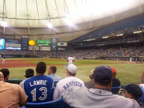 Tropicana Field, secção: 119, fila: G, lugar: 7 and 8