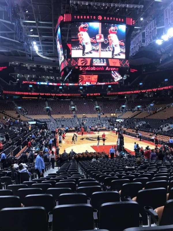 Scotiabank Arena, secção: 114, fila: 15, lugar: 13