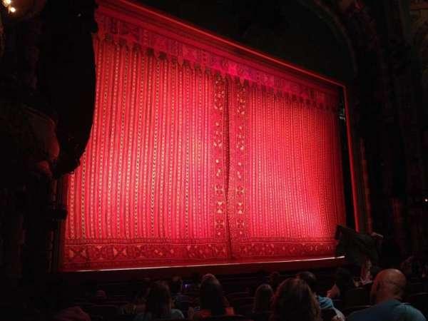 New Amsterdam Theatre, secção: Orchestra L, fila: L, lugar: 19