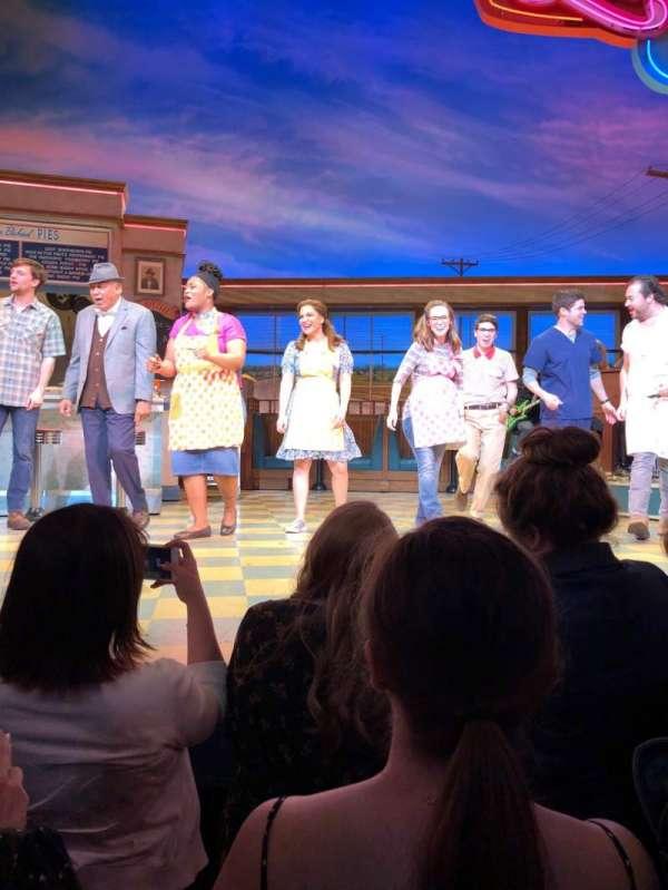 Brooks Atkinson Theatre, secção: Orch, fila: A, lugar: 109