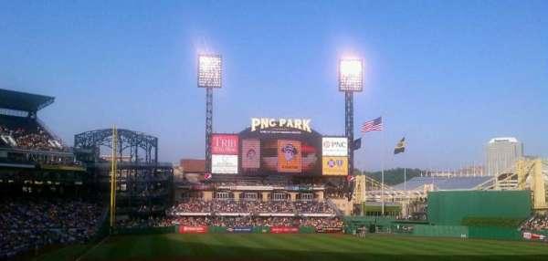 PNC Park, secção: 113, fila: DD, lugar: 1