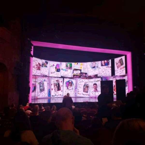August Wilson Theatre, secção: Orchestra L, fila: Q, lugar: 9