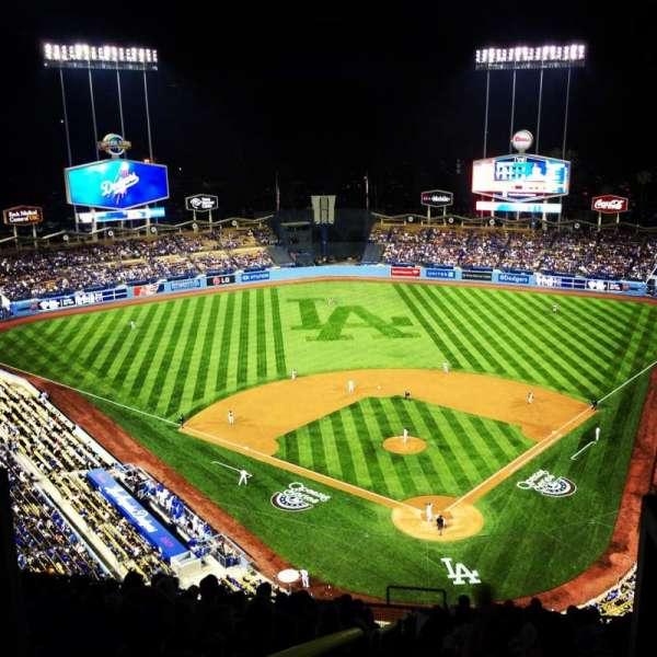 Dodger stadium, secção: Top Deck, fila: M, lugar: 5