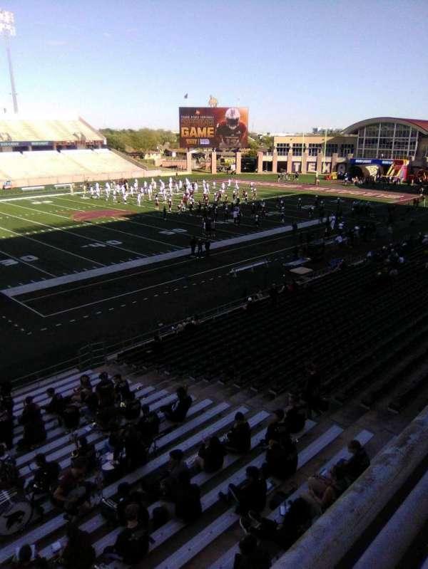Bobcat Stadium (TSU), secção: 205, fila: 1, lugar: 1