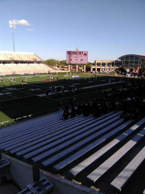 Bobcat Stadium (TSU), secção: 105, fila: 25, lugar: 1