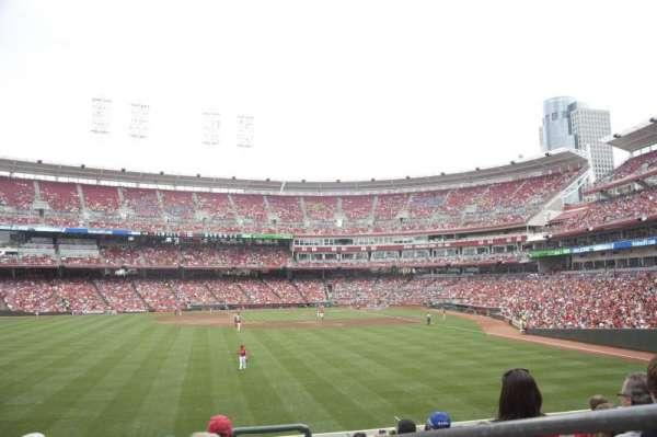 Great American Ball Park, secção: 103, fila: J, lugar: 2