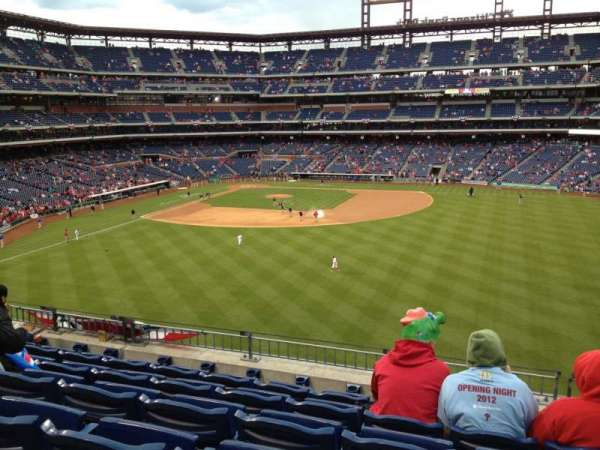 Citizens Bank Park, secção: 201, fila: 6, lugar: 13