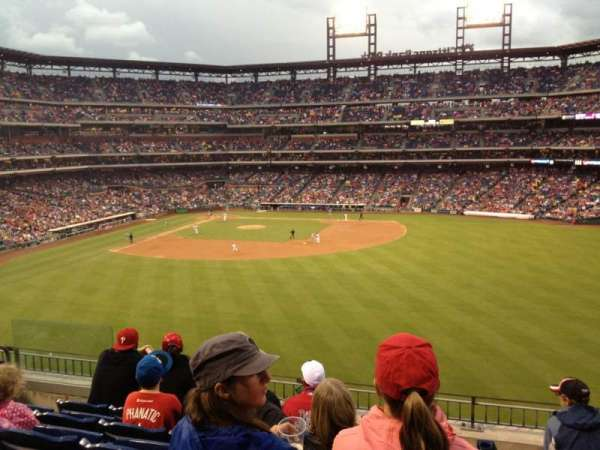 Citizens Bank Park, secção: 201, fila: 6, lugar: 18