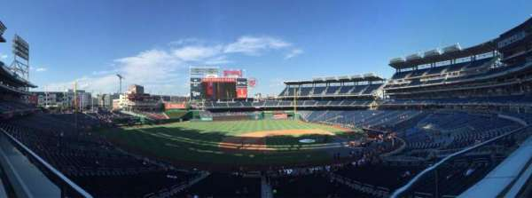 Nationals Park, secção: 208, fila: A, lugar: 17