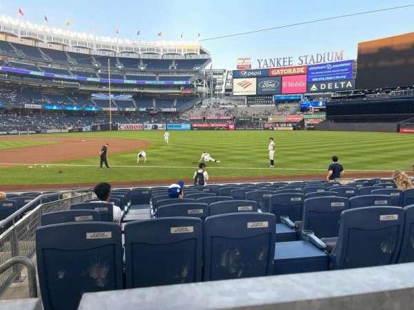 Yankee Stadium, secção: 113, fila: 1, lugar: 9