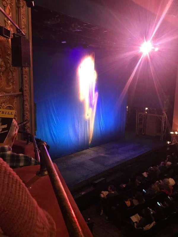 Longacre Theatre, secção: Box, fila: D, lugar: 3