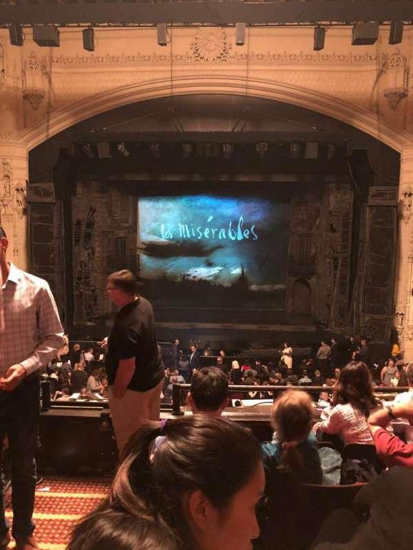 Orpheum Theatre (San Francisco), secção: Mezzanine RC, fila: E, lugar: 102