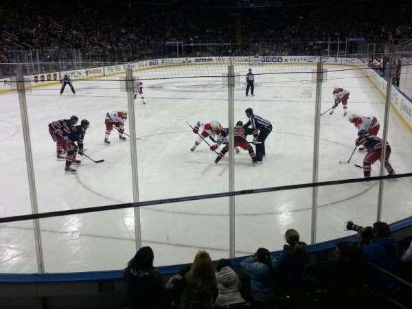 Madison Square Garden, secção: 103, fila: 6, lugar: 11