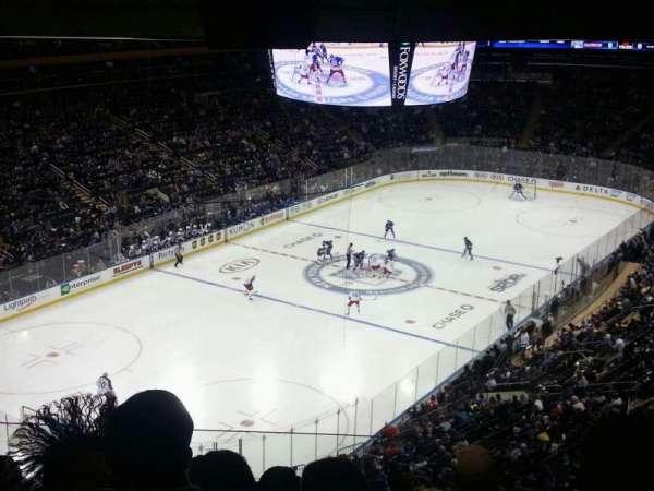 Madison Square Garden, secção: 419, fila: 5, lugar: 18