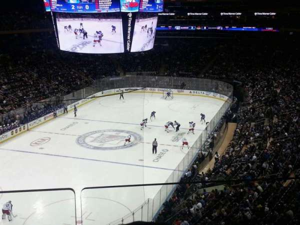 Madison Square Garden, secção: 419, fila: 2, lugar: 3