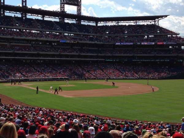 Citizens Bank Park, secção: 110, fila: 36, lugar: 1