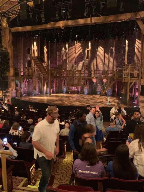 Richard Rodgers Theatre, secção: Orchestra R, fila: O, lugar: 4